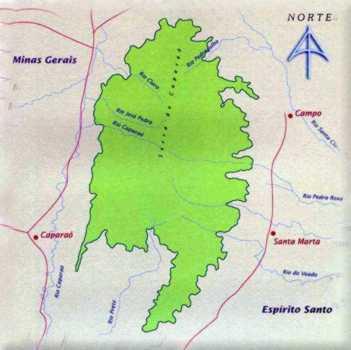 Mapa do Parque Nacional do Caparaó