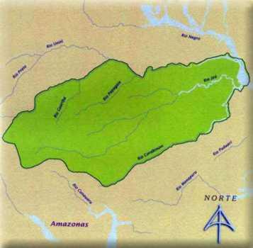 Mapa do Parque Nacional do Jaú