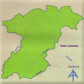 Mapa do Parque Nacional de São Joaquim
