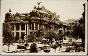 Theatro Municipal do Rio de Janeiro: cartão postal (c. 1909).
