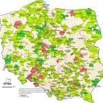 Mapa da Polônia