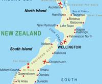 Mapa da Nova Zelândia