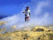 Jazida de Enxofre de origem vulcânica, a céu aberto, no sul dos EUA